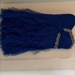 A royal blue homecoming dress